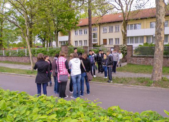 Ankunft einer Jugendgruppe