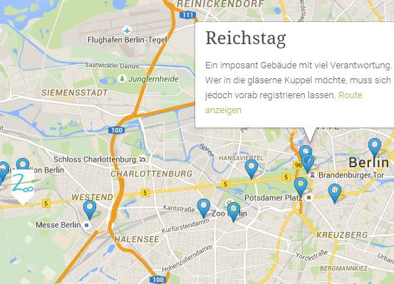 befindet sich in fußläufiger Entfernung von:  - Olympiastadion/ Glockenturm  - Horst-Korber-Sportzentrum - Waldbühne Berlin  Durch die Anbindung an den Bus M49 und die S-Bahn ist das Stadtzentrum nur etwa eine Viertelstunde entfernt.